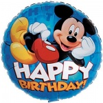 mickey mouse happy birthday foil balloon